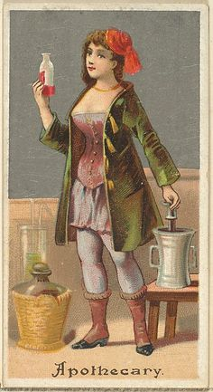 """The """"Occupations for Women"""" series of trading cards was issued by Goodwin & Company in 1887 to promote Old Judge and Dogs Head Cigarettes. The Metropolitan Museum of Art owns all 50 cards in the series, as well as three duplicate cards Photo Postcards, Vintage Postcards, Vintage Ephemera, Vintage Photographs, Vintage Images, Cigarette Brands, Sewing Cards, Collectible Cards, Retro"""