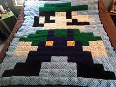 Luigi Granny Square Afghan - Crochet creation by jujube1960