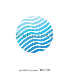 Water Wave Logo Template. nature vector Icon illustration