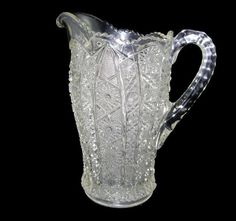 Pitcher Imperial Glass Bellaire early 1900s Early American Pattern Glass by EclecticVintager, $40.00