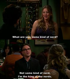 Leonard from Big Bang Theory - the king of nerds
