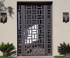 Painéis Portão Metal Contemporâneo Aço Ferro Forjado Designer Personalizado Jardim Entrada in | eBay