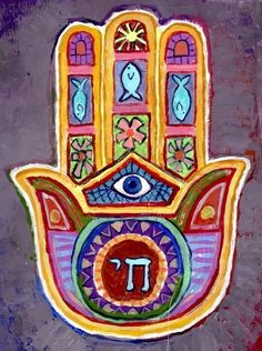 Beautiful Hamsa design with Chai