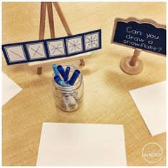 A Pinch of Kinder: Kindergarten Art Invitation - Can You Draw a Snowflake?