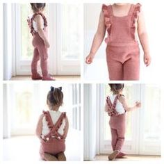 Paelas jumpsuit (norwegian version) - Jumpsuits and Romper Baby Girl Fashion, Toddler Fashion, Kids Fashion, Baby Girl Dress Patterns, Baby Dress, Kids Outfits Girls, Girl Outfits, Crochet Girls, Crochet Baby