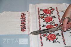 2.спочатку треба підготувати рукави(полик вже був примережений до рукава)  надсікаємо тканину до шва змережування Embroidery Techniques, Blouse Patterns, Traditional Outfits, Floral Tie, Cross Stitch Patterns, Hand Lettering, Upcycle, Crafts, Folk