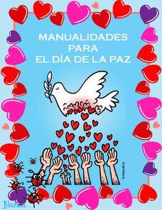 Actividades para Educación Infantil: Manualidades DíA De La Paz 2015 Computer Lab, Origami, Crafts For Kids, Religion, Preschool, Snoopy, Teaching, Gifts, Bolivia Travel
