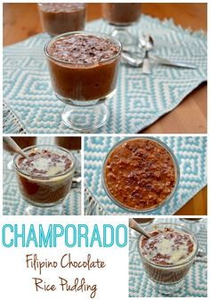 Champorado - Filipino Chocolate Rice Pudding | Rice Pudding Around the ...