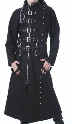 Dead Threads Mens Long Black Trench Gothic Coat: Amazon.co.uk: Clothing