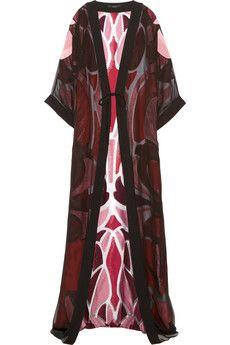Gucci Silk-chiffon and metallic jacquard jacket   NET-A-PORTER