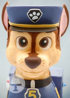 The Royal Bakery - Paw Patrol Chase Cake I love this! I wish I could make it for G!