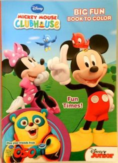 Mickey Mouse Clubhouse Coloring Book Fun Times By Disney Junior