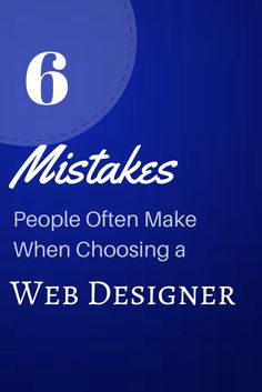 Many web design service providers have popped up in the last five years. In some ways, this has made it tougher for people to find high quality, experienced web designers. You'll find many different styles, skills, prices, and abilities among web designers. In order to get a professional website developed and designed for your organization, you should seek out a provider with a solid, proven track record. Here are six things you should avoid when selecting a web design firm for your project