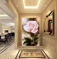 Custom papel DE parede 3 d,rose oil painting for the living room bedroom TV background wall waterproof wallpaper Wallpaper Co, Cheap Wallpaper, Wall Painting Decor, Wall Decor, Wall Waterproofing, Gold Office Decor, Rose Oil Painting, Wooden Gazebo, Indian Home Interior