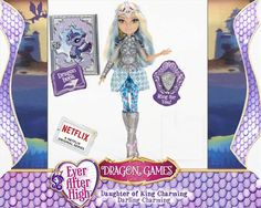 Ever After High Dragon Games Darling Charming (daughter of King Charming) Ever After High, Barbie 80s, Darling Charming, Lizzie Hearts, Batman Room, Famous Fairies, Ever After Dolls, High Falls, Raven Queen
