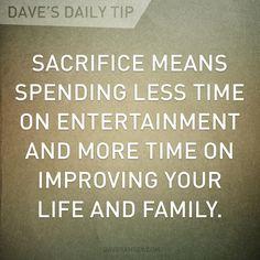 Dave Ramsey: Daily Tip - Sacrifice