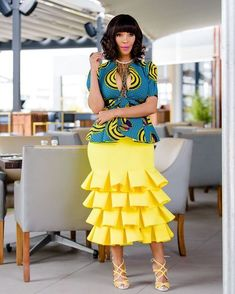 The Trending and most Inspired Ankara styles every Fashionista should have in her closet at the moment. African Fashion Designers, Latest African Fashion Dresses, African Dresses For Women, African Print Dresses, African Print Fashion, Africa Fashion, African Attire, African Wear, African Women