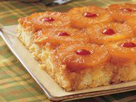 Gluten Free Pineapple Upside Down Cake recipe from Betty Crocker. Will substitute the pineapple juice for the water next time, but still delicious!