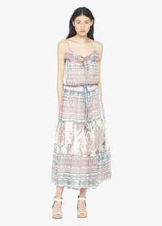 c0b8aa411837 Boho elbise Mango Outlet, Boho Dress, Bohemian, Trendy, Outlets, Shopping,