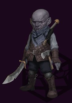 m Deep Gnome Rogue Arcane Trickster Studded Leather Armor Glaive Axe male Underdark Dark & Dicey Joma Cueto lg Dungeons And Dragons Art, Dungeons And Dragons Characters, Dnd Characters, Fantasy Characters, Fantasy Races, Fantasy Rpg, Medieval Fantasy, Fantasy Character Design, Character Concept
