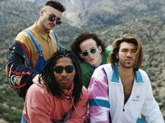 Color Me Badd. Check out their style! Lol