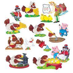 Little Red Hen Flannelboard Set, LFV22018