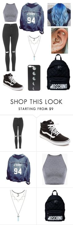 """Untitled #136"" by ladivazamendes on Polyvore featuring Topshop, Vans and Moschino"