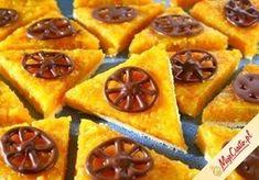 Przepis na Mazurek pomarańczowy No Bake Desserts, Delicious Desserts, Polish Easter, Pie Dessert, Onion Rings, Waffles, Gluten, Baking, Eat