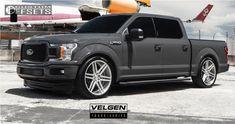 1 2018 F 150 Ford Belltech Lowered Velgen Machined - My Cute Trucks New Ford F150, Ford F150 Custom, 2018 Ford F150, Ford Pickup Trucks, New Trucks, Custom Trucks, Cool Trucks, Lowered F150, Lowered Trucks