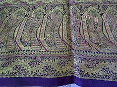 Lovely Brocade VIntage Piece in Gold Purple by MagicalFabrics, $20.00