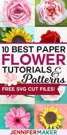 DIY Paper Flowers: The Best Free Tutorials, Patterns, & Videos - Jennifer Maker . DIY Paper Flowers: The Best Free Tutorials, Patterns, & Videos – Jennifer Maker The 10 Best Pape Large Paper Flowers, Tissue Paper Flowers, Paper Roses, Felt Flowers, Diy Flowers, Fabric Flowers, Flower Paper, Scrapbook Paper Flowers, Paper Flower Backdrop Wedding