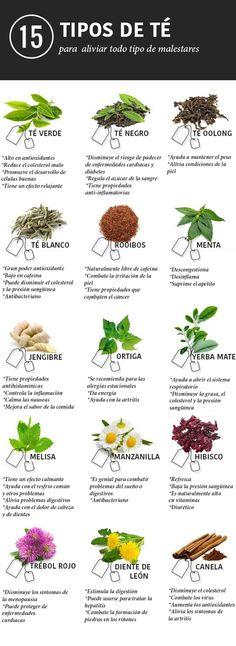 15 tés e infusiones para aliviar cualquier dolencia Más #salud