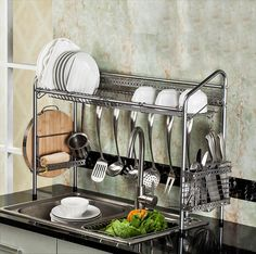 Buy PremiumRacks Professional Over The Sink Dish Rack - Fully Customizable - Multipurpose - Large Capacity Kitchen Organization, Kitchen Storage, Organizing, Kitchen Shelves, Sink Shelf, Dish Drainers, Dish Racks, Utensil Holder, New Kitchen