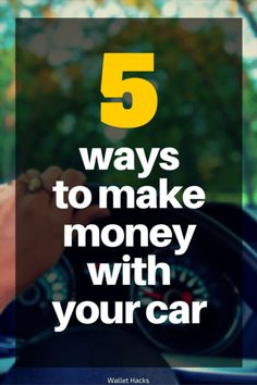 A car is expensive so not everyone has one - if you do then there are several ways you can use your car to earn a little money as a side hustle. | how to make money with your car | use your car to make money | tips to make money with your car | use your car for a side hustle | making money with your car || Wallet Hacks
