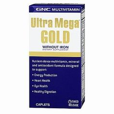 GNC Ultra Mega Gold without Iron 180cap -- Be sure to check out this awesome product. (This is an affiliate link) #Multivitamins