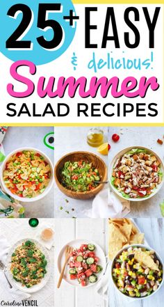 Take a look at these yummy easy Summer Salad Recipes. 25 of the best easy summer salads for you to try this summer that are light and tasty. Easy recipes to bring to the next BBQ or cook out or party over the summer. Fast Easy Dinner, Easy Summer Dinners, Easy Summer Salads, Summer Salad Recipes, Dinner Recipes Easy Quick, Fast Easy Meals, Healthy Meals For Two, Easy Healthy Recipes, Frugal Meals