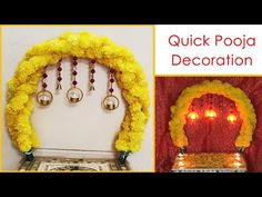 Ganpati Decoration At Home, Diwali Decorations At Home, Flower Decorations, The Creator, Lights, Flowers, Youtube, Home Decor, Floral Decorations