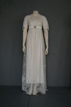 Regency Wedding Dress, Wedding Dresses, Frankenstein Costume, Empire, Regency Era, Georgian, Short Sleeve Dresses, Unique, Skirts