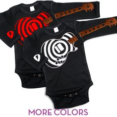 New for Baby Boy - Psychobaby Guitar Playing Baby Swirly One-Piece