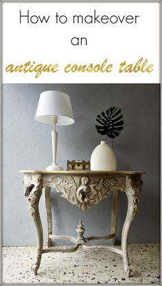 Μεταμόρφωση κονσόλας εισόδου - Antique console table makeover Chalk Paint Projects, Diy Projects, Furniture Makeover, Home Furniture, Antique Console Table, Metal Crafts, Holiday Crafts, Crafts To Make, Entryway Tables