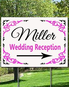 Wedding or Wedding Reception Sign with Arrow by designstudiosigns, $35.00