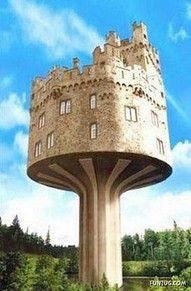 Castle home, looks like a cake on a cakestand