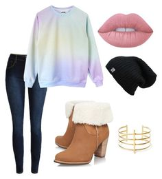 """""""Untitled #103"""" by leagueofshadows on Polyvore featuring UGG Australia, BauXo and Lime Crime"""