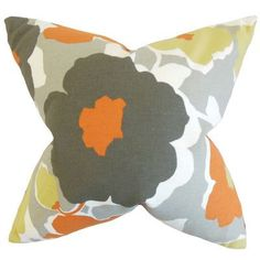 The Pillow Collection Saar Floral Cotton Throw Pillow Color: