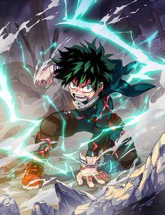 Izuku Midoriya / Deku (My Hero Academia) My Hero Academia Episodes, My Hero Academia Memes, Hero Academia Characters, My Hero Academia Manga, Anime Characters, Anime Figures, Anime Kunst, Anime Art, Manga Anime