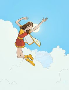 Mary Marvel by Sandy Jarrell Comic Book Artists, Comic Book Characters, Comic Character, Comic Books, Fictional Characters, Comic Art, Heroes For Hire, Marvel Heroes, Captain Marvel Shazam