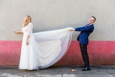 Get back here! (Bride and Groom Portraits)