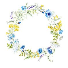 Illustration: Watercolor floral wreath