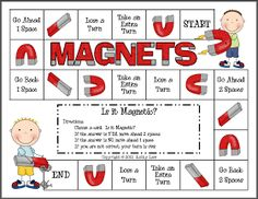First Grade a la Carte: Magnets Fun little science game. Perhaps test all of the card examples first with magnets, then play a time or two! First Grade Science, Primary Science, Kindergarten Science, Science Classroom, Teaching Science, Science For Kids, Teaching Ideas, Classroom Ideas, Science Inquiry
