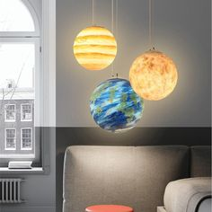 Milky Way Galaxy Milky Way - Galaxy Pendant Lamp – Warmly - Perfect for large spaces, these remarkable planet pendant lamps make for fantastic art lighting! Planet Lamp, Diy Hanging, Hanging Lamps, Wall Lamps, Wall Lights, Lumiere Led, Décor Boho, Bedroom Lamps, Contemporary Lamps